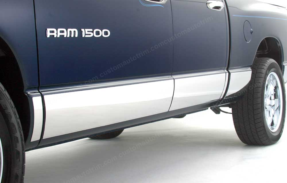 Dodge Ram Chrome Rocker Panels -  8 7/8 inches tall, 12 pc set
