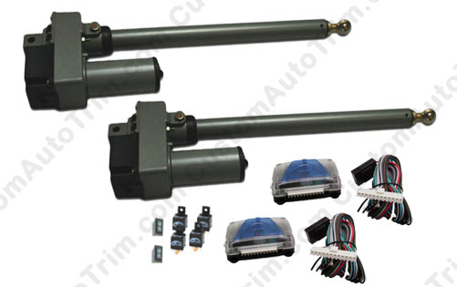 Basic Automatic Lambo Door Conversion Kit Upgrade w/ 6 inch Stroke Linear Actuators (No Remotes or Door Openers).