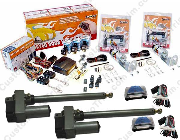 Complete Automatic Lambo Door Conversion Kit Upgrade w&#47 6 inch Stroke Linear Actuators (with Remotes &#38 Door Openers).