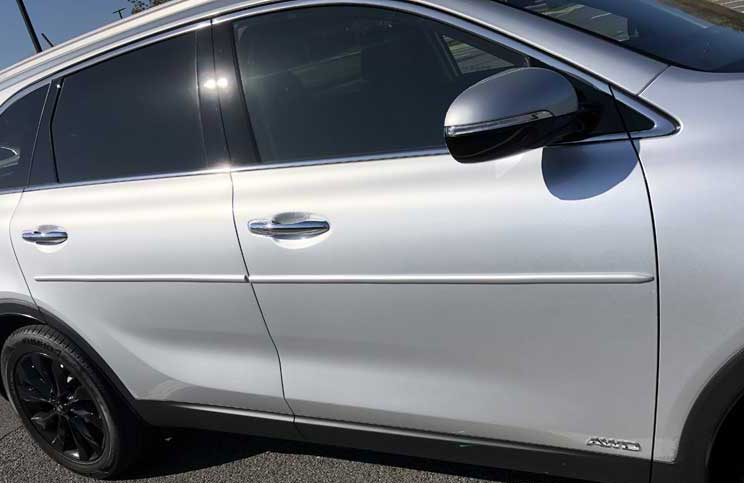 1 inch Nissan Factory Style Body Side Molding w/ Pointed Ends in Colors.