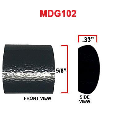 5/8 inch European Black Light Grain Style Body Side Molding 24 Ft or 100 Ft Rolls