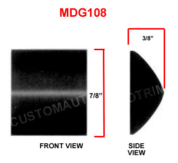 7/8 inch Flat Black Paintable Body Side Molding 30 Ft Roll.