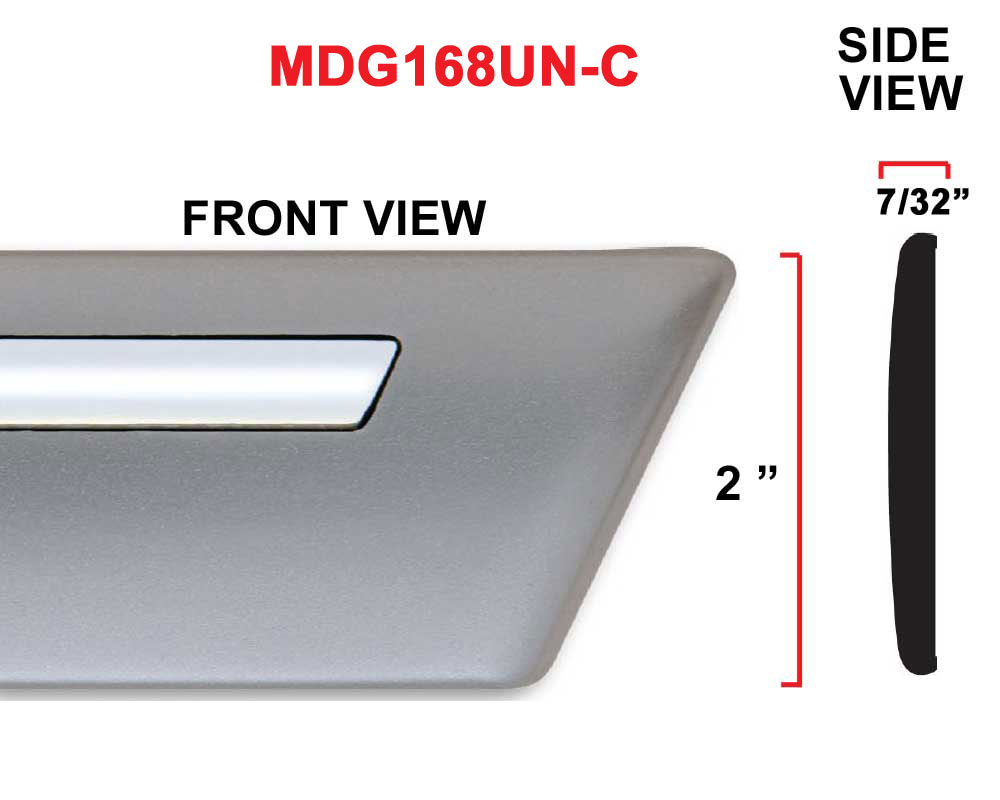 2 inch Universal Factory Style Body Side Molding w/ Chrome Strip and Angled Ends, Available in Colors.