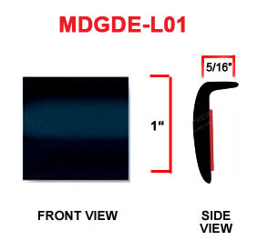 1 inch L Shaped Door Edge and Wheel Lip Molding - Black and Colors, Sold by the Roll.