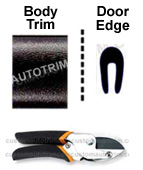 1 inch Body Side Molding and Door Edge Guards Package w/ Cutter - Black, Chrome, or White.
