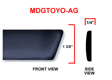 Honda Factory Style Body Side Molding w/ Angled Ends Available in Colors.