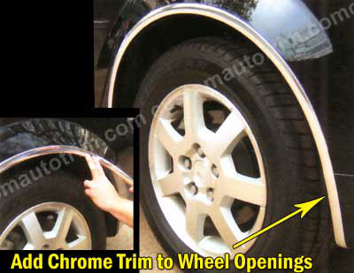 1 inch Flat Ultra Flexible Trim and Wheel Well Molding Chrome 30 Ft or 150 Ft Rolls.