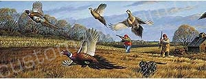 Pheasant Hunting Rear Window Graphic