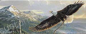 Flying Eagle and Mountain Rear Window Graphic
