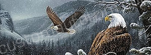 Mountaintop Eagles Rear Window Graphic