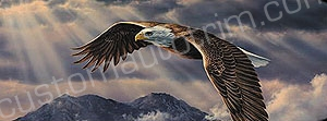 Eagle Streaking Sun Rear Window Graphic
