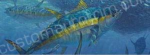 Deep Sea Yellow Fin Tuna Rear Window Graphic