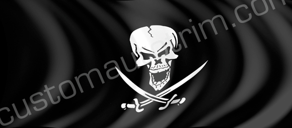 Pirate Flag Rear Window Graphic