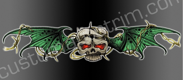Bat Skull Rear Window Graphic