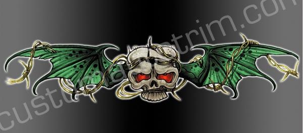 Skulls Rear Window Graphics RWG1154
