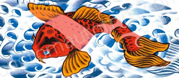 Red Koi Rear Window Graphic