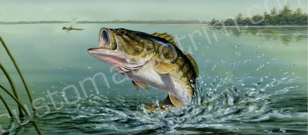 Hautman Large Mouth Bass Rear Window Graphic