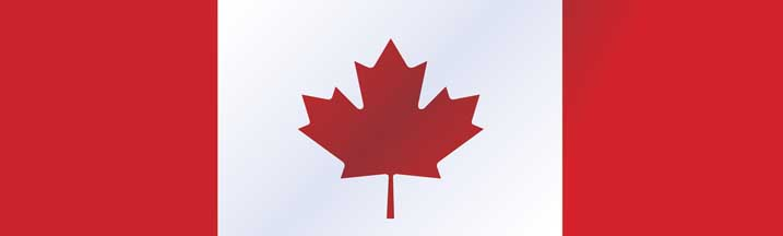 Canadian Flag Rear Window Graphic