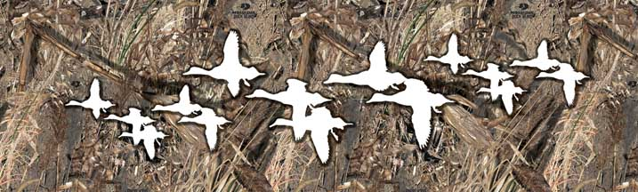 Mossy Oak Duck Blind with Duck Outlines Rear Window Graphic