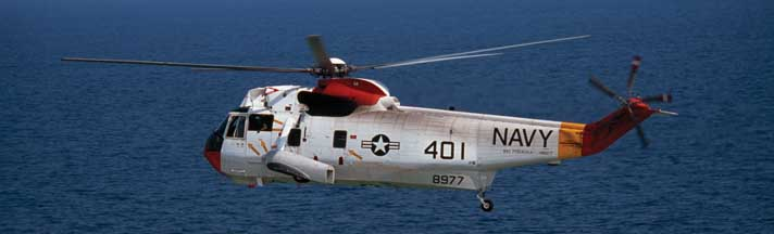 Navy Helicopter over Gulf Rear Window Graphic
