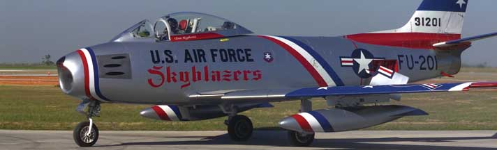 USAF F86F Saber Jet Rear Window Graphic