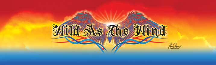 John Rios Wild as the Wind Eagle Rear Window Graphic