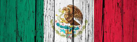 Mexican Wall Flag Rear Window Graphic