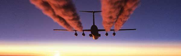 Aircraft Vapor Trails Rear Window Graphic