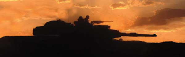 ARMY TANK SUNSET Rear Window Graphic