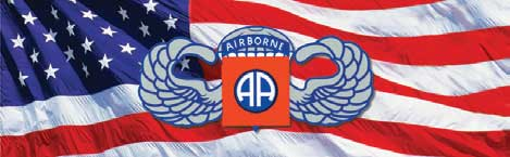82nd Airborne and Flag Rear Window Graphic