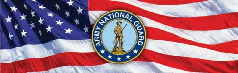 Army National Guard Seal and Flag Rear Window Graphic