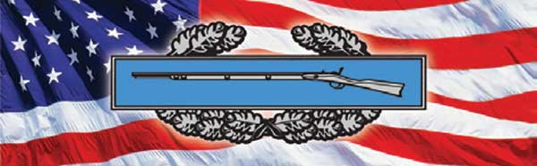 Combat Infantryman Seal and Flag Rear Window Graphic