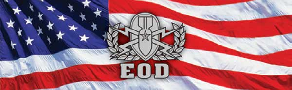 MILITARY EOD LOGO AND FLAG Rear Window Graphic