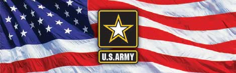 Army Logo and American Flag  Rear Window Graphic