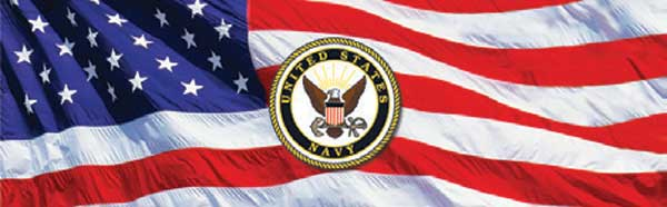US NAVY LOGO AND AMERICAN FLAG Rear Window Graphic
