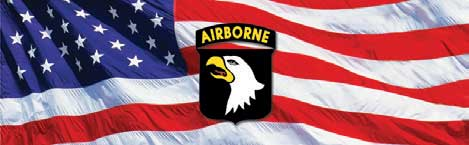 101st Airborne Logo and Flag Rear Window Graphic Rear Window Graphic