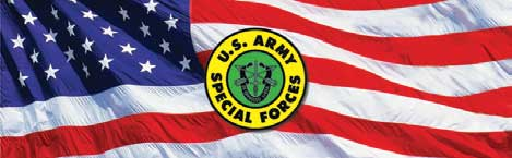 US Army Special Forces and American Flag Rear Window Graphic
