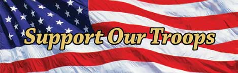 Support Our Troops  USA Flag Rear Window Graphic Rear Window Graphic