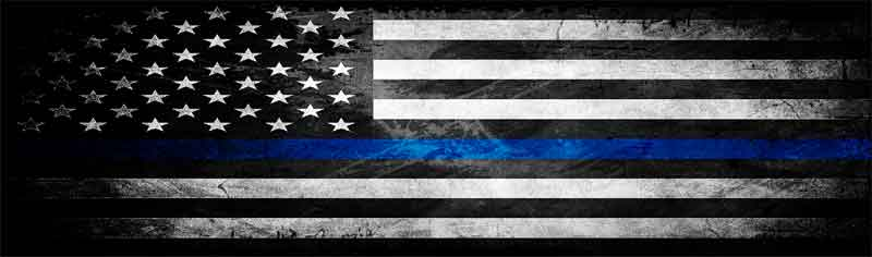The Thin Blue Line American Flag, Blue Lives Matter Honor Police Officers Flag Rear Window Graphic