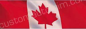 Waving Canadian Flag Rear Window Graphic
