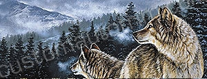 Mountain Wolves Rear Window Graphic